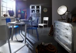 Stuhl 2er Set  Air Force - Metall - hellblau - lackiert – Bild 7