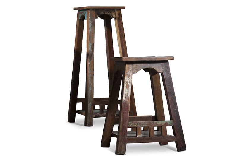blumenst nder riverhouse gro recycletes altholz bunt lackiert. Black Bedroom Furniture Sets. Home Design Ideas