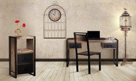 Schreibtisch Line ART - Sheesham massiv - braun - gebeizt & geölt – Bild 4