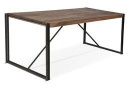 Tisch Line ART - Sheesham massiv - braun - gebeizt & geölt