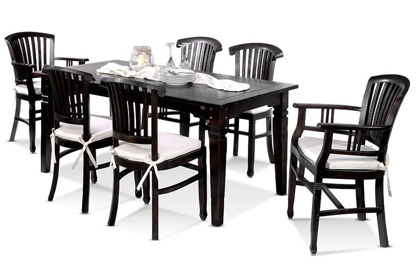 esstisch panama 180 x 90 akazie massiv braun antikfinish. Black Bedroom Furniture Sets. Home Design Ideas
