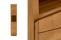Hochschrank Fresh Bad 2Tür Teak natur  massiv Holz  Bad Moebel Highboard Schrank Kommode – Bild 2