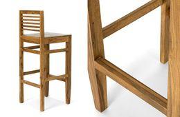 Barstuhl robustus I Palisander massiv Holz honigbraun  – Bild 2