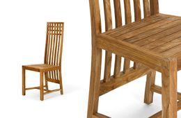 Holzstuhl Cordoba I Teak massiv Holz Möbel  – Bild 2