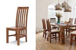 Stuhl Quadrat Palisander Honig massiv Holz gewachst Möbel
