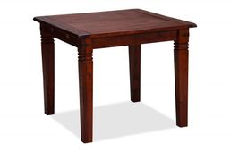 Esstisch 90x90 + 2 Rattanstühle Capri braun Pinie massiv Holz Essgruppe Tisch grupp – Bild 3