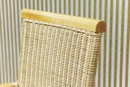 Essgruppe 250x100 Hacienda - Esstisch & 8 Rattan Stühle - Pinie massiv - hellbraun -  gebeizt & gewachst – Bild 4