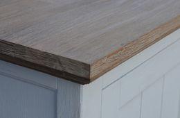 Sideboard Olympia weiß/braun Akazie massiv Holz Kommode Anrichte Lowboard – Bild 11