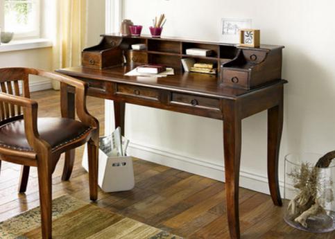"Sekretär inkl Büro Sessel ""Cube"" massiv Holz Palisander Holz Moebel Büro tisch"