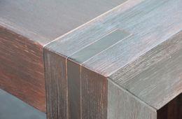 Couchtisch Hamburg quadrat massiv Akazie Holz Möbel Tisch Wohnzimmertisch – Bild 5
