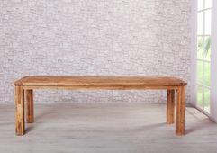 Esstisch Colorado 160/210x90 + 4 Rattanstühle (ausziehbar) massiv Holz Essgruppe Esszimmergarnitur – Bild 5