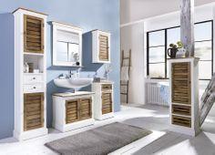 Badset 5-teilig Burgund massiv holz Badezimmer Möbel Komplett  – Bild 1