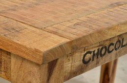 Tisch 140 x 70 cm Villam - Mangoholz mit starken Gebrauchsspuren – Bild 3