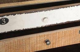 Nachtkommode Loft - Korpus Metall mit Mangoholz lackiert – Bild 3