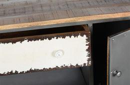Couchtischtruhe Loft - Korpus Metall mit Mangoholz lackiert – Bild 4