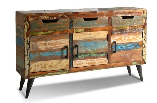 Sideboard Avila - Altholz mit Metallbeinen