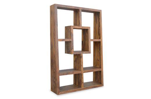Bücherregal Cube massiv Holz Moebel Palisander Bücherschrank Regal
