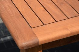 Gartentisch (mit Ausziehfunktion) 100/145x145 Phuket Massivholz Eukalyptus geölt – Bild 12