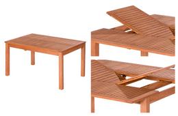 Gartentisch (mit Ausziehfunktion) 100/145x145 Phuket Massivholz Eukalyptus geölt – Bild 9
