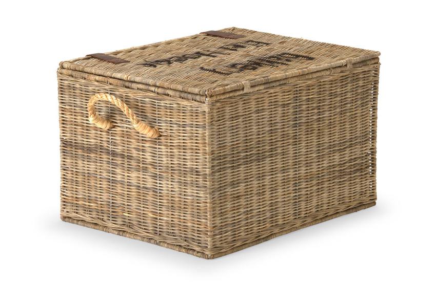 korb magic deco mit deckel und riemen rattan gro natur. Black Bedroom Furniture Sets. Home Design Ideas