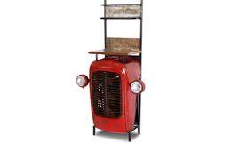 Traktor - Barschrank MIX4HOME Altmetall lackiert aus buntem Altholz