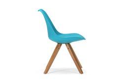 Stuhl Color Boom - Kunststoff - Buche - lackiert - blau / natur – Bild 2
