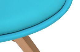 Stuhl Color Boom - Kunststoff - Buche - lackiert - blau / natur – Bild 6