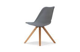 Stuhl Color Boom - Kunststoff - Buche - lackiert - grau / natur – Bild 3