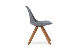 Stuhl Color Boom - Kunststoff - Buche - lackiert - grau / natur – Bild 2