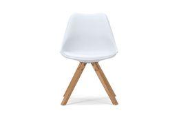 Stuhl Color Boom - Kunststoff - Buche - lackiert - weiß / natur – Bild 3