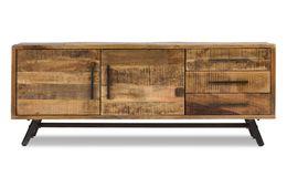 Sideboard RIMINI Mango massiv Metall Eisen Kommode – Bild 2