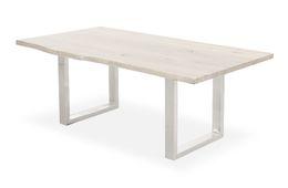Baumtisch 180cm x 90cm  Bauler - Palisander - weiss/grau - lackiert & Metall - Eisen - weiss/grau