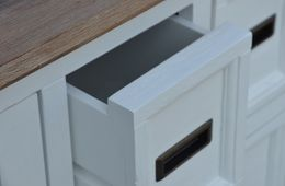Ausstellungsartikel  Sideboard Olympia weiß/braun Akazie massiv Holz Kommode Anrichte Lowboard – Bild 9