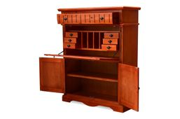 Ausstellungsartikel Sekretär Gotland Pinie massiv Holz Schrank Schreibtisch Computertisch braun – Bild 3