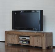 Ausstellungsstück TV-Unterschrank Hamburg massiv Holz lowboard tv schrank Fernsehtisch Board – Bild 2