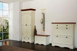 Ausstellungsartikel Schuhschrank Gotland cremeweiß  Pinie massiv Holz Moebel Schuh Regal Schuhkommmode – Bild 2