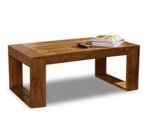 """Ausstellungsartikel Couchtisch 110x60 """"Cube"""" Palisander massiv Wohnzimmertisch Tisch Möbel – Bild 2"""