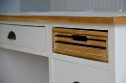 Ausstellungsartikel Esstischstuhl Burgund massiv Holz Moebel antik Optik Stuhl Esszimmer – Bild 3