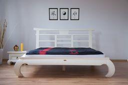 Ausstellungsartikel 140 x 200 cm Bett Feng-Shui schwarz Pinie massiv Holz Moebel Bett Schlafzimmer – Bild 4