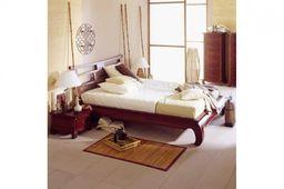 "Ausstellungsartikel Bett ""Feng-Shui"" 160 x 200 braun massiv Pinie – Bild 1"