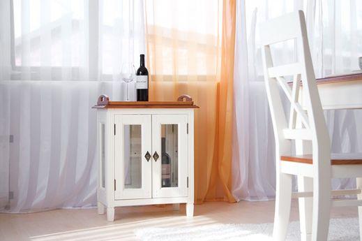 Barschrank Gotland Pinie massiv Holz Moebel Beistelltisch Truhe Tisch Box cremeweiß