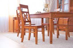 Stuhl Gotland cremeweiß  Pinie massiv Holz Moebel Holzstuhl Landhaus Esstischstuhl – Bild 6