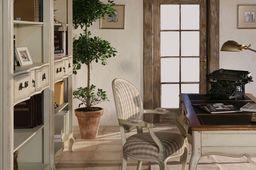 Schreibtisch Vintage weiß/braun massiv Holz Antik Shabby-Chic Computertisch Büro Tisch – Bild 7