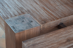 """Esstisch 200x100 """"Tecky"""" Akazie massiv Holz Moebel Esszimmer Tisch Küchentisch – Bild 2"""