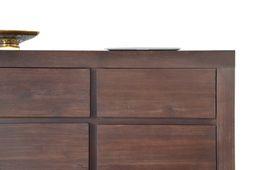 Wohnwand Tecky 5 teilig massiv Holz Moebel Akazie Schrankwand Anbauwand Kolonial – Bild 6