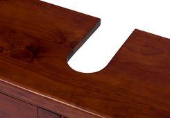 Waschbeckenunterschrank Capri Pinie braun massiv Holz Badezimmer Schrank Bad – Bild 6