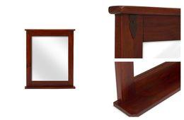 Spiegel 78x67 Capri braun massiv Holz Moebel Wandspiegel Badspiegel Flurspiegel – Bild 3