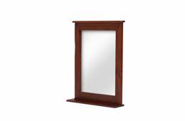 Spiegel 78x67 Capri braun massiv Holz Moebel Wandspiegel Badspiegel Flurspiegel – Bild 2