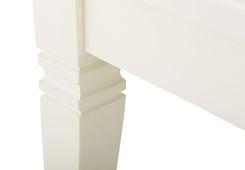 Couchtisch 130x65 Capri weiß Pinie massiv Holz Wohnzimmertisch Beistell tisch – Bild 6