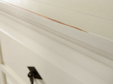 Vitrine Capri cremeweiß massiv Holz Moebel Glasvitrine Schrank Kommode Anrichte – Bild 2